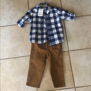 Carters dress shirt and pants